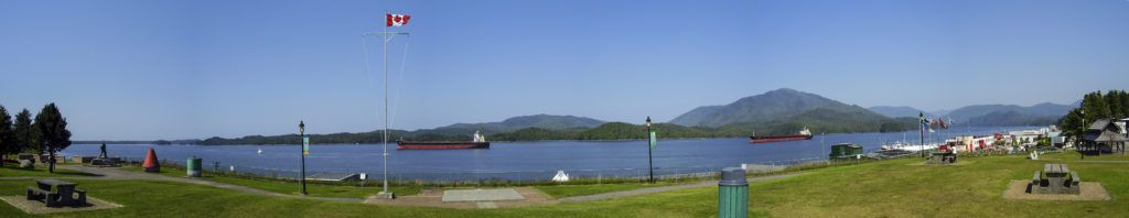 Prince Rupert (British Columbia): sightseeing on the Pacific Ocean. We are 40 km from Alaska