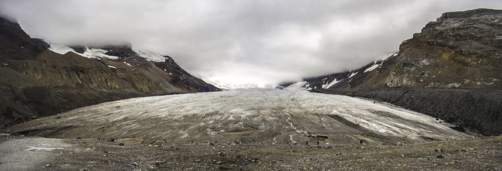 The Columbia Icefield, the largest glacier of the canadian Rocky Mountains (Alberta)