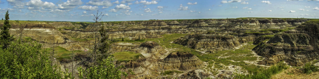 Midland Provincial Park (Alberta). More than 60 species of dinosaur have been recovered in this canyon
