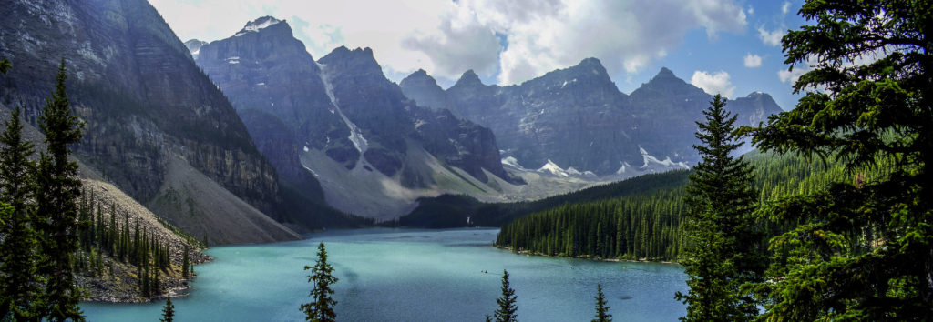 The so famous Moraine Lake, Rocky Mountains (Alberta)