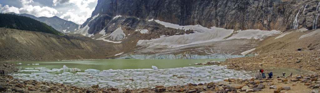 The Mt. Edith glacier, Jasper National Park (Alberta)