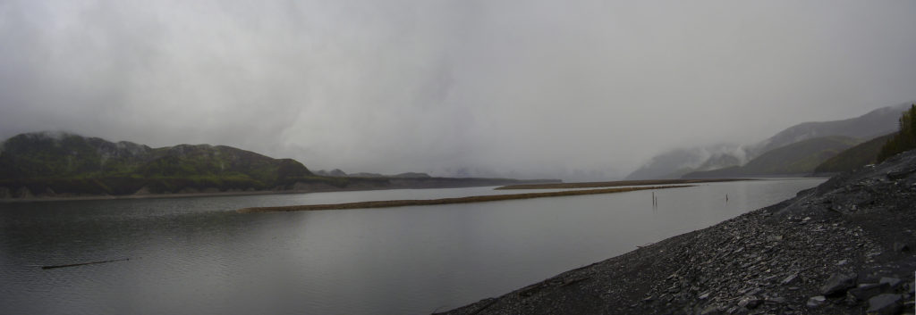 Willinston Lake (northern British Columbia) in the fog