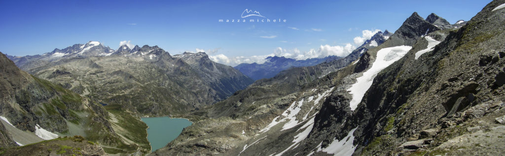 The Gran Paradiso massif (4.061 m) and the Serrù Lake from the Col de la Lose (2.957 m) - Tarentaise